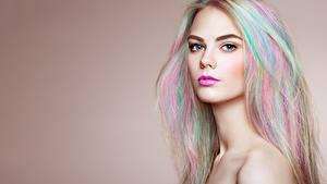 Bilder Schöner Haar Starren Make Up Blond Mädchen Oleg Gekman Mädchens
