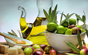Bilder Oliven Brot Blattwerk Öle