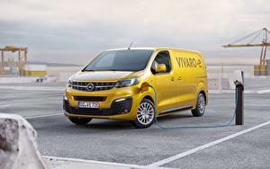 Bilder Opel Gelb Ein Van 2020 Vivaro-e Autos