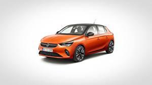 Hintergrundbilder Opel Orange Metallisch Grauer Hintergrund Corsa, 2020