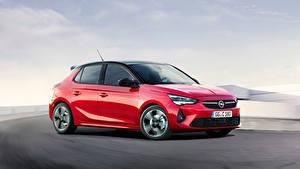 Fotos Opel Rot Metallisch Seitlich Corsa, GS Line (F) auto