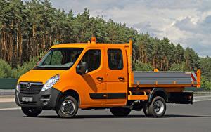 Hintergrundbilder Opel Lastkraftwagen Orange 2010-20 Movano Double Cab Chassis