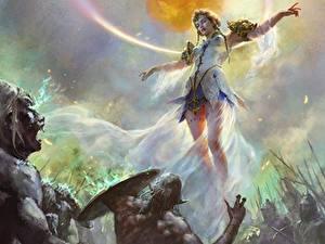 Fonds d'écran Orque créature Les robes Jambe Fantasy Filles