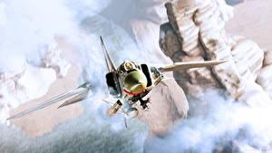 Fotos Flugzeuge Gezeichnet Jagdflugzeug Russischer MiG-23MLD Luftfahrt