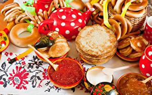 Bilder Eierkuchen Kaviar Backware Löffel Lebensmittel