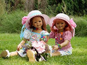 Hintergrundbilder Park Sträuße Puppe Zwei Kleine Mädchen Der Hut Grugapark Essen