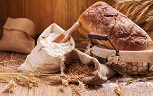 Fotos Backware Brot Mehl Ähre Getreide Lebensmittel