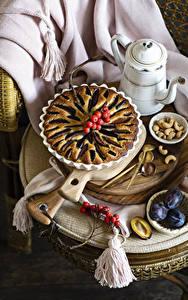 Bilder Backware Obstkuchen Pflaume Schalenobst Beere Stillleben