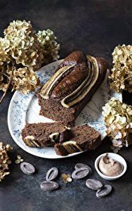 Hintergrundbilder Backware Keks Schokolade Hortensien Stück