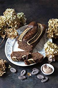 Hintergrundbilder Backware Keks Schokolade Hortensien Stück Lebensmittel