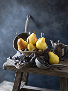 Pictures Pears Blueberries Still-life Food