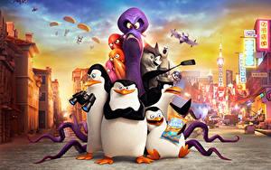 壁纸、、ペンギン、Penguins of Madagascar 2014、