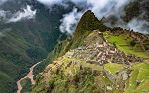 Bilder Peru Gebirge Ruinen Machu Picchu Natur