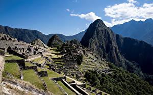 Fotos Peru Gebirge Ruinen Machu Picchu