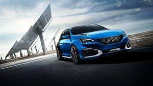 Bilder Peugeot Blau Hybrid Autos 2015 308 R HYbrid Concept automobil
