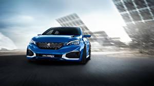 Bilder Peugeot Blau Vorne Hybrid Autos 2015 308 R HYbrid, Concept auto