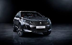 Fotos Peugeot Softroader Graue Metallisch Vorne 3008 GT, 2020 auto