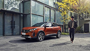 Fotos Peugeot Softroader Metallisch Orange 4008 GT China, 2020 Autos