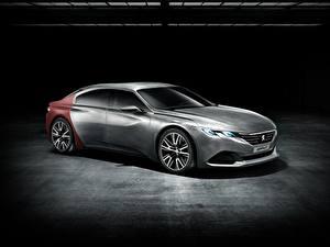 Bilder Peugeot Graue Seitlich Coupe Concept, Exalt automobil