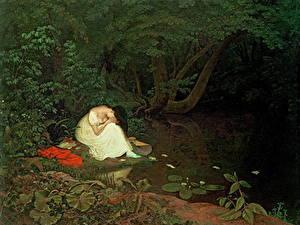 Bilder Malerei Teich Bäume Sitzt Francis Danby, Disappointed Love