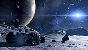 Bilder Planeten Steine Oberfläche des Planeten Mass Effect Andromeda 3D-Grafik