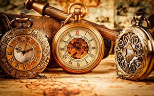 Sfondi desktop Orologio da tasca Quadrante orologio Orologio Da vicino Tre 3