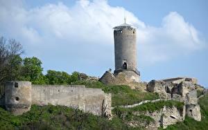 デスクトップの壁紙、、ポーランド、城、廃墟、塔、、都市