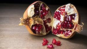 Hintergrundbilder Granatapfel Hautnah das Essen