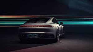 Hintergrundbilder Porsche Hinten 911 Carrera 4S 2019 Autos