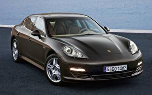 Bilder Porsche Braun Metallisch Panamera S, 970 Autos