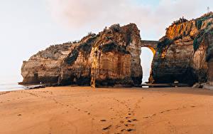Fotos Portugal Brücke Strände Felsen Ponta da Piedade