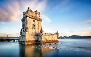 Fotos Portugal Festung Küste Himmel Türme