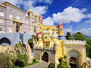Fotos Portugal Gebäude Palast Design Pena palace Sintra Städte