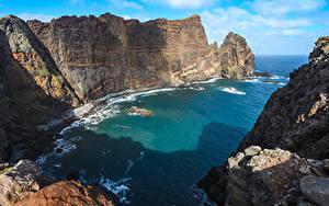 Hintergrundbilder Portugal Meer Felsen Bucht Madeira, Sao Lourenco