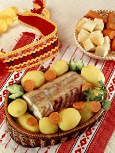 Fotos Kartoffel Gemüse Mohrrübe Fische - Lebensmittel