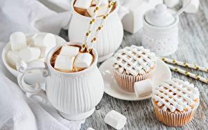 Bilder Keks Marshmallow das Essen