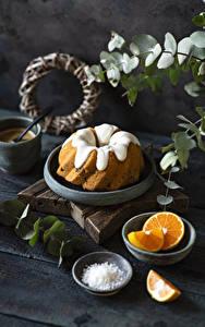 Hintergrundbilder Keks Apfelsine Zuckerguss Bretter