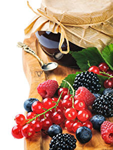 Images Powidl Currant Blackberry Blueberries Raspberry Jar Food