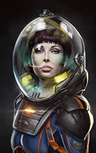 Bilder Prometheus – Dunkle Zeichen Fan ART Helm Film Mädchens