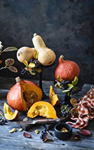 Bilder Kürbisse Beere Stillleben Stück das Essen