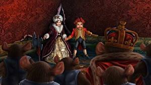 Bilder Ratten Krone Kleine Mädchen Nutcracker