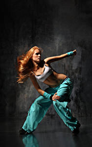 Wallpapers Redhead girl Dance Hands young woman