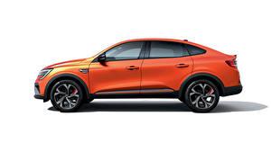 Bilder Renault Crossover Seitlich Metallisch Weißer hintergrund Arkana R.S. Line, 2020 Autos