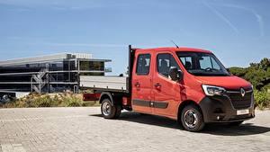 Hintergrundbilder Renault Lastkraftwagen Rot Master, Double Cab Tipper, 2019 automobil