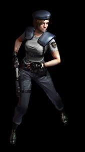 Hintergrundbilder Resident Evil Polizei Schwarzer Hintergrund Jill Spiele Mädchens 3D-Grafik