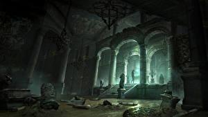 Images Rise of the Tomb Raider Lara Croft Column Arch vdeo game Fantasy