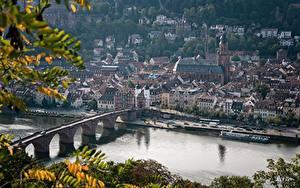 Desktop hintergrundbilder Fluss Brücken Gebäude Deutschland  Städte