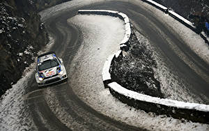 Hintergrundbilder Straße Winter Volkswagen Schnee Rallye WRC Polo Red Bull automobil Sport