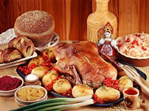 Hintergrundbilder Hühnerbraten Kartoffel das Essen