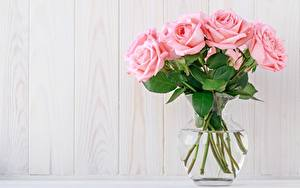 Hintergrundbilder Rosen Sträuße Rosa Farbe Vase Vorlage Grußkarte Blumen